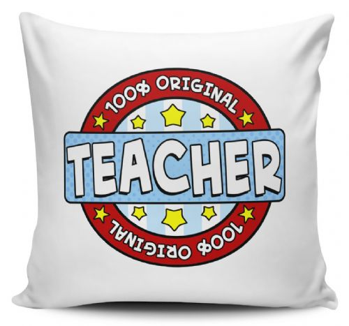 100% Original Teacher Cushion Cover - Blue